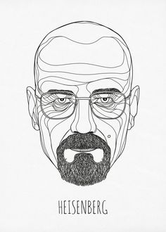 Heisenberg Illustration - Creator unknown - found on Creattica