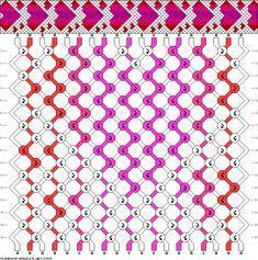 #37975 - friendship-bracelets.net Hearts friendship bracelet pattern