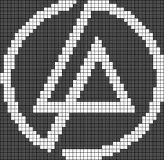 Word Patterns, Brick Patterns, Bead Loom Patterns, Alpha Patterns, Perler Patterns, Linkin Park Logo, Diy Bracelets Patterns, Friendship Bracelet Patterns, Pearler Beads