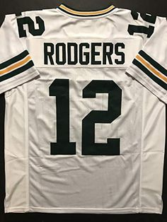 Unsigned Aaron Rodgers Green Bay Green Custom Stitched Football Jersey Size  XL New No Brands Logos. Semihigh Chain Store 5fc11fb43