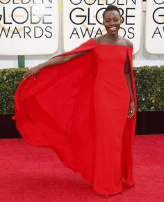 Lupita Nyong'o : les plus belles photos des Golden Globes 2014, sa couv pour Dazed and Confused et sa campagne Miu Miu