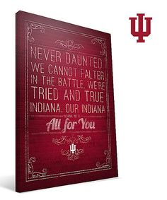 Another great find on #zulily! Indiana Hoosiers Alma Mater Wall Art by Paulson Designs #zulilyfinds