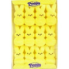 Peeps! I love 'em! Especially roasting the on an open fire! They get soft and gooey on the inside, crispy and crunchy from the melted sugar on the outside. YUM!
