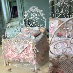 Hand soldered French bed By MaritzaMiniatures