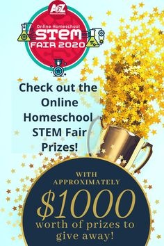 We have approximately $1000 worth of prizes to give away this year for the 2020 Online Homeschool STEM Fair! Come check them out! Homeschool Blogs, Homeschooling, Stem Steam, Steam Activities, Stem Projects, Amazon Gifts, Check, Homeschool