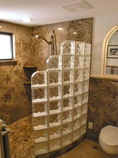 Resultado de imagen de tile walk in shower without doors