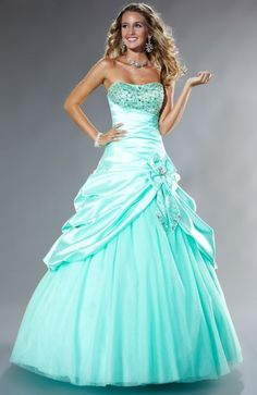 Tiffany Designs Presentation Satin Pickup Ball Gown Prom Dress 16845 So beautiful!