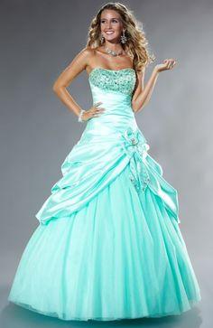 Tiffany Designs Presentation Satin Pickup Ball Gown Prom Dress 16845 So beautiful!