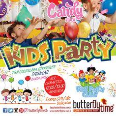 Butterfly Time Kıds Party bu hafta sürpriz oyunlarıyla sizleri bekliyor. Eğlence #Terracity'de!