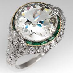 Antique Jewelry Old European Cut Diamond Ring Platinum Filigree Bijoux Art Deco, Art Deco Jewelry, Modern Jewelry, Fine Jewelry, Jewelry Design, Jewellery Box, Geek Jewelry, Jewellery Shops, Stylish Jewelry