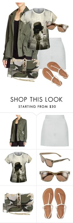 """""""military green"""" by srlangley ❤ liked on Polyvore featuring BB Dakota, Topshop, Valentino and Aéropostale"""