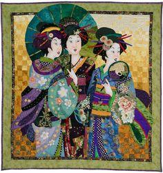 Asian art quilt by Barbara Baatz Hillman