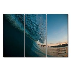 Ready2hangart 'Surf' by Nicola Lugo 3 Piece Photographic Print on Wrapped Canvas Set
