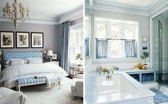parede de cor clara/tom neutro, lustre, quadros, cortina