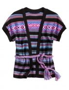 Colorful Stripe Sweater with Belt