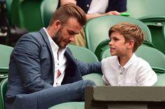 David Beckham and son Romeo