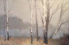 Zavarin - Silence Landscape Drawings, Abstract Landscape, Landscape Paintings, Russian Landscape, Soviet Art, Winter Landscape, Love Painting, Summer Art, Tree Art
