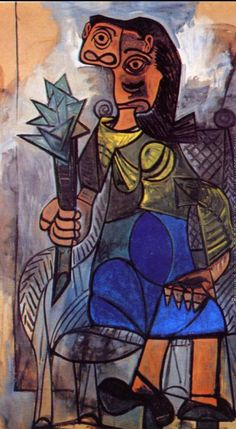 Hand-Painted oil painting reproduction of Picasso,Pablo Woman with an Artichoke for sale,museum quality painting, oil on canvas Pablo Picasso Work, Pablo Picasso Drawings, Picasso Portraits, Picasso Art, Picasso Paintings, Great Paintings, Malaga, Funny Vintage Ads, Spanish Art