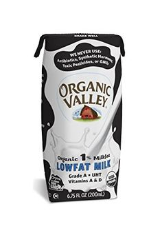 Organic Valley 1% Plain Lowfat Milk, 6.75 Ounce (Pack of 12) * Click image for more details.