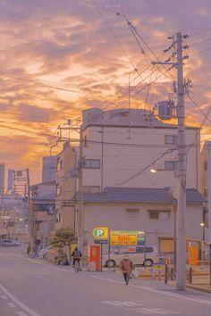 Anime Scenery Wallpaper, Aesthetic Pastel Wallpaper, Aesthetic Backgrounds, Aesthetic Wallpapers, Wallpaper Backgrounds, Aesthetic Japan, City Aesthetic, Minimalist Wallpaper, Foto Instagram