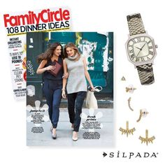 The '70s are back in a big way this season, and the editors at @familycirclemag are all over it. Check out our Getaway Earrings ($49) and Snake It Happen Watch ($89) in their September issue on stands now!
