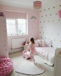 Toddler bedroom girl - 44 stylish ways to decorate your kid bedroom 23 Baby Bedroom, Baby Room Decor, Girls Bedroom, Bedroom Decor, Nursery Decor, White Bedroom, Girl Nursery, Cool Kids Bedrooms, Pink Bedrooms