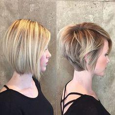 coiffure carré court plongeant nuque dégagee Cheveux