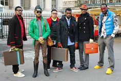 Kanye + entourage at Paris fashion week in 2009. This is the most perfect photo to ever exist.
