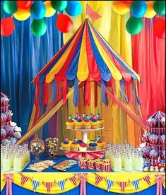 Birthday party decorations for adults carnival themes 15 Ideas for 2019 Circus Carnival Party, Circus Theme Party, Frozen Themed Birthday Party, Carnival Birthday Parties, Circus Birthday, Birthday Party Decorations, First Birthday Parties, First Birthdays, Carnival Food