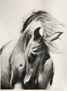 Pod wiatr. - IsolaBellaCeramika - Obrazy akwarele Horses, Animals, Etsy, Animales, Animaux, Animal, Animais, Horse