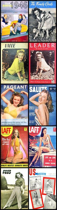 1946 magazine covers of Marilyn Monroe ....