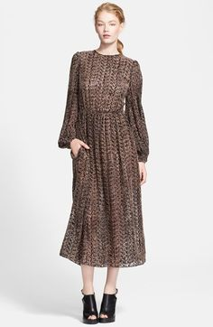 Michael Kors Tweed Print Devoré Dress available at #Nordstrom