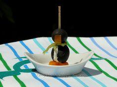 Pinguinos de aceitunas negras - Black olive penguins