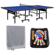 Harvil I, Indoor Table Tennis Table with Playback Feature and Free Accessories, Silver Best Ping Pong Table, Air Hockey, Pool Table, Table Games, Mobile Design, Tennis Table, Game Room, Indoor, Storage