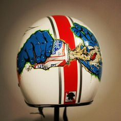One of a kind #PBR custom painted helmet (don't drink and drive kids.)