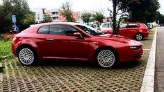 Alfa Romeo Brera rubino red Alfa Brera, Alfa Romeo Brera, Supercar, Ferrari, Vehicles, Cars, Motorbikes, Muscle Cars, Rolling Stock