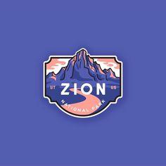 Follow us  @logoinspirations Zion National Park by @spenserdesigns -  logocore.com/lessons -  LEARN LOGO DESIGN  @logocore @logocore @logocore
