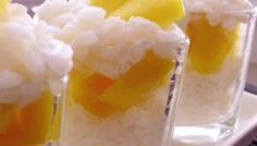 Thai Sticky Rice & Mango Dessert Shots