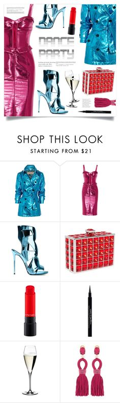 """""""Dance Party!"""" by marina-volaric ❤ liked on Polyvore featuring Burberry, Giuseppe Zanotti, Judith Leiber, MAC Cosmetics, Givenchy, Riedel, Oscar de la Renta and danceparty"""