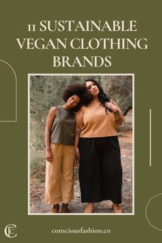 Not all vegan fashion is environmentally conscious, but these brands are making ethical and sustainable vegan clothing that considers the people and planet, too. These labels have basics, loungewear, casual clothing, and even special occasion pieces made from materials like hemp, organic cotton, linen, Tencel, and recycled fabrics. #veganfashion #sustainablefashion Vegan Clothing, Ethical Clothing, Ethical Fashion, Vegan Fashion, Slow Fashion, Sustainable Living, Sustainable Fashion, Fashion Capsule, Eco Friendly Fashion