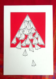 paper plane illustration  fleet  hand drawn paper by lightboxing, £24.00