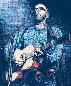 Dallas Green (City and Colour) by Miles Tsang • Portrait of Dallas Green from City and Colour •Screenprint •17 x 20.25 £25.00 http://www.thefloodgallery.com/collections/latest-arrivals/products/dallas-green-city-and-colour