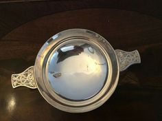 Silverplate Quaich Forrest Jewellers Glasgow with engraving Celtic Knot Designs, St Kitts, Grenada, Glasgow, Tartan, Silver Plate, Jewels, Ebay, Granada