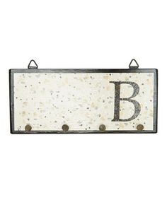 Look what I found on #zulily! Beige Dots Initial Wall Hook by Sydney Designs #zulilyfinds