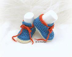 Nuevos zapatos nacidos botitas de bebé púrpura lila por solboutique
