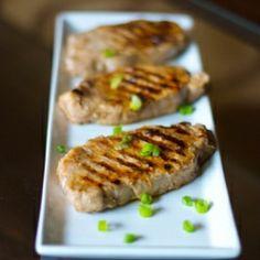 Lemon-Ginger Marinated Grilled Pork Chops