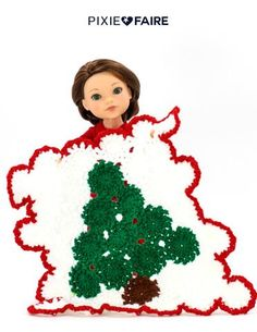 Melinda's Closet Finds Crocheted Christmas Nordic Afghan 18 inch American Girl Dolls | Pixie Faire Crochet Crafts, Yarn Crafts, Sewing Crafts, Doll Clothes Patterns, Doll Patterns, Crochet Patterns, American Girl Clothes, American Girls, Ag Dolls