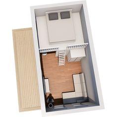 Modellerna med loft är maximerade gällande in och utvändiga mått, noterbart är den takhöjd som erbjuds både under och på loftet. Timmer eller blocklösning. Tiny Loft, Loft Room, Compact Living, Tiny House, Beach House, House Inspirations, Studio, Cottages, Apartments