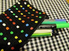 Hamahelmiä neuleessa - neulottu penaali   Punomo Easy Knitting Patterns, Easy Patterns, Knitting Ideas, Crochet, Crafts, Baskets, Purses, Kids, Pouch Bag