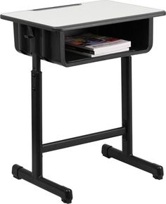 This open front desk is perfect to the classroom that is adjustable in height to fit children of all sizes. The spacious desktop allows students ample space for books, paper and other items. This open                                                                                                                                                     More